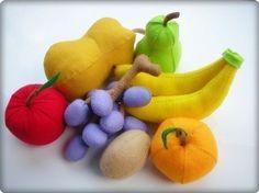 Happy Fruits PDF Felt Pattern by julyhobby on Etsy, $3.99