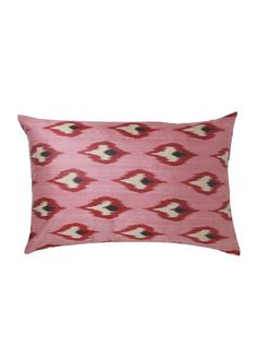 Peony iKat Silk Cushion Cover | Polkra Cushion Inserts, Cushion Covers, John Wood, Ikat Pattern, Color Patterns, Peonies, Hand Weaving, Cushions, Throw Pillows