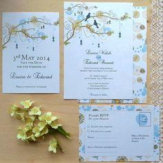 Floral Tree Wedding Stationery