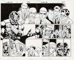 Comic Art For Sale from Fanfare, All-New X-Men Issue 2 Page 4-5 by Comic Artist(s) Stuart Immonen, Wade von Grawbadger