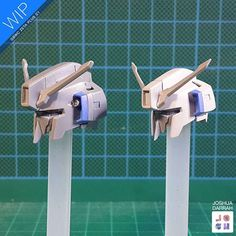 : : GBWC ZETA C1 : : HEAD SHRINK! I decided that I wanted the head of the C1 to be just that littttttle bit smaller. So I cut and merged two heads to pieces and made it! It took me sooo much time and reworking around problems but it worked! Now the Zeta has a bit more of that super robot aesthetic with a smaller head making the body look bigger. A full photo gallery WIP is on my facebook. See ya! Josh #gundam #gunpla #bandai #zetagundam #gbwc