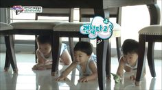 Daehan, Minguk, Manse hiding from appa Song Triplets, Song Daehan, Love Park, Joo Hyuk, Song Joong Ki, Superman, Rap, Twins, Korea