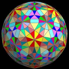 icosidodecahedral stained glass -  RobertLovesPi