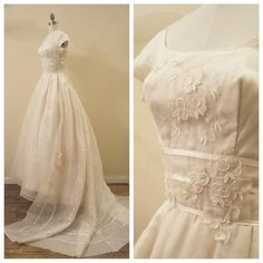 Vintage 1960s Bianchi Silk Organza wedding dress by MirandasBridal