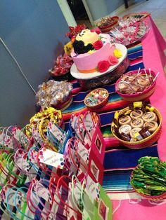 Candy buffet table #mexicancandy #fridaKahlo Mexican party