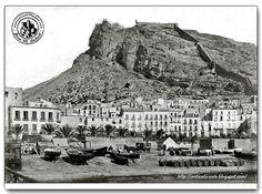 Alicante antiguo. Playa del Postiguet