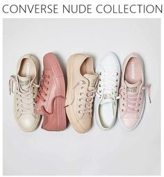 Adidas Women Shoes - CONVERSE NUDE COLLECTION - We reveal the news in sneakers for spring summer We reveal the news in sneakers for spring summer 2017 Pastel Converse, Converse Sneakers, Pink Leather Converse, Colored Converse, Sneakers Style, Converse Style, Converse Chuck, Keds, Fashion Shoes
