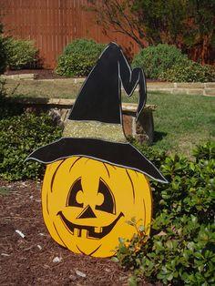 Halloween Pumpkin Yard Art