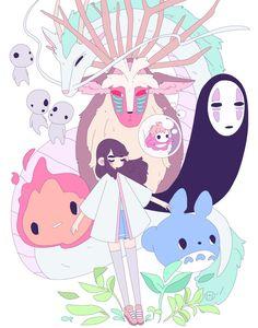 """An Artist a Week: Sarah """"Sarlis"""" Lasater Studio Ghibli Art, Studio Ghibli Movies, Totoro, Illustrations, Illustration Art, Manga Anime, Anime Art, Character Art, Character Design"""