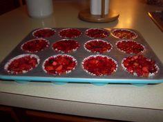 Cranberry Pineapple Walnut Jello Cups