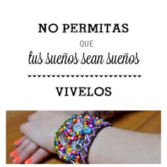 No permitas que tu sueños sean sueños VIVELOS!!!  #lifeisgood #actitudmuska #accesorioschic #lovemuska #handmade #happyday #amuletos #accesorioschic #accesorios #hechoconamor #hechoconpasion #hechoenmexico #modamexico #pulserasmuska #shop www.muska.com.mx