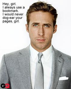 Ryan Gosling loves the library