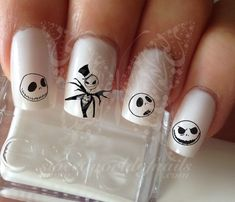 Jack Skellington Halloween Nail Art Nail Water Decals