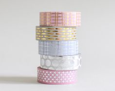 Holographic masking tape in 4 colors Superstylish and versatile tape to quickly style up your gifts and to personalize favorites. There are 4 colors to choose from: A. Green B. Peach C. White D. Pink The listing is for one roll of tape with 15 meters / 5.5 yards. --------------------------------------- SHIPPING: • Shipping time to the US / CAN: 3-7 business days • On request, orders are shipped ensured via registered mail -> please choose the shipping options accordingly i...