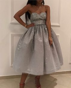 Bling Bling Sequins Ball Gowns,Silver Homecoming Dress,Swing Party Dress,Short Prom Dresses