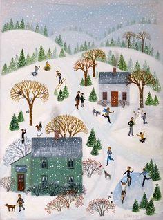 Snow Flurry 9x12 acrylic on canvas