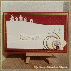 Edgelits Schlittenfahrt, StampinUp, weihnachtliche Karte