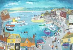 Pasties in Padstow St Michael's Mount, Seaside Art, Cornwall, Beautiful Images, Painting & Drawing, Nostalgia, Colour Pop, Devon, Bobs