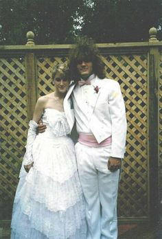 Bad prom photos...you know it's bad when your date's hair is bigger than yours! lol