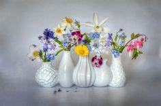 Dekoracja, Wazony, Bukiety kwiatów
