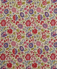 D'ANJO A TANA LAWN - Based on a 1930s design by the silver collection this print displays the iconic Liberty fine line. Liberty Art Fabric Autumn/ Winter 2012
