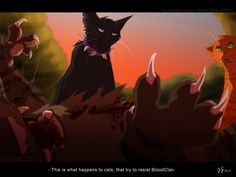 Warrior cats by Erin Hunter, art by Mizu-no-Akira. Scourge, Tigerstar, and Firestar Scourge: This is what happens to cats who try to control Bloodclan Warrior Cat Memes, Warrior Cats Series, Warrior Cats Fan Art, Warrior Cats Books, Warrior Cat Drawings, The Warriors Book, Love Warriors, Film Scene, Warrior Cats Scourge