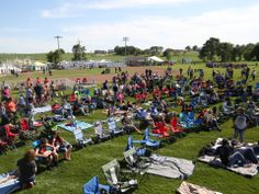 Spectators fill the corner of the outfield in advance of a screening of the movie Field of Dreams at the movie site on Friday, June Movie Sites, Field Of Dreams, Kevin Costner, The Outfield, Travel Usa, Mississippi, Iowa, Dolores Park, Fill