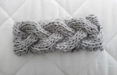 Braided knit headband..this is a single cabled piece.