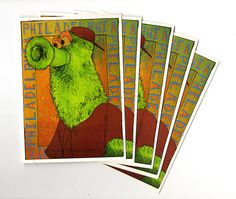 Philadelphia Phanatic Cards by PaulCarpenterArt on Etsy