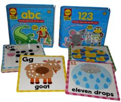 Touch & Feel Flashcards Set of 2 ABC / 123 Alex Toys Little Hands Numbers Letter