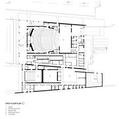 Imagem 15 de 20 da galeria de Centro de Artes Performativas Wagner Noël / Bora Architects + Rhotenberry Wellen Architects. Plans 1