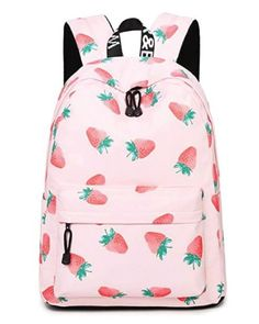 Sweet strawberry school bag. Cute back to school outfits. Backpacks for  teens. Cool 6114239ce3a6c