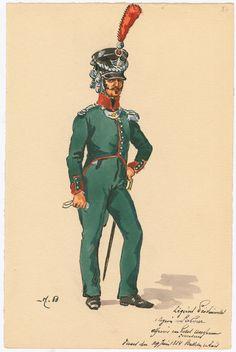 Légions Provinciales. 1 legion Labour; Officier... 1814