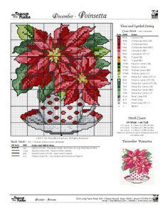 cross stitch - rainbow loom . December Color