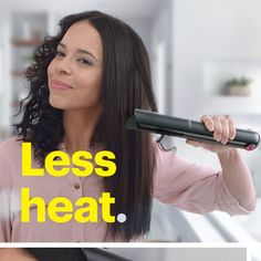 Looking for a sleek, straight finish without damaging your hair? Check out the Dyson Corrale cord-free straightener. Dyson's exclusive flexing plates shape and gather hair for half the damage¹, reduced frizz and fewer flyaways². Your hair will love it. Color Ombre Hair, Curly Hair Styles, Natural Hair Styles, Boite A Lunch, Braided Hairstyles, Anime Hairstyles, Ethnic Hairstyles, Hairstyles 2018, Black Hair