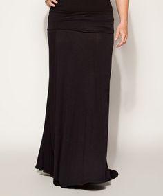 Look what I found on #zulily! Black Maxi Skirt - Plus #zulilyfinds