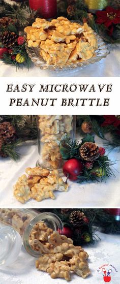 Quick & easy Microwave Peanut Brittle. Cuts the stovetop time in half & comes out perfect every time! Great holiday gift too! via @2CookinMamas