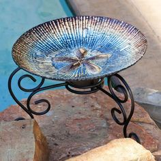 Sand Dollar Birdbath Item# 1244 - Click image twice -see more best selling bed baths at http://www.zbestsellers.com/level.php?node=103title=best-selling-birdbaths -  home, patio, home decor, garden, outdoors , outdoor living,housewarming gift ideas, gift ideas.