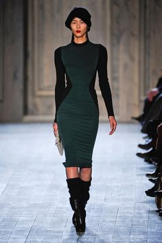 New York Fashion Week Fall 2012, Victoria Beckham. Love the dress!