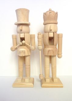 Unfinished wood nutcracker ready to paint diy christmas crafts custom jumbo wooden nutcracker by cocoroandco on etsy solutioingenieria Image collections