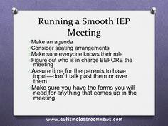 Autism Classroom News: Running a Smooth IEP Meeting: Part 1