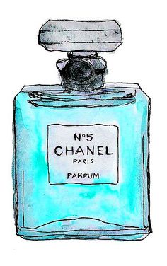 chanel nº 5 watercolor