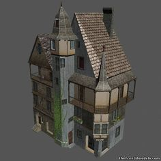 Medieval house 3d model free
