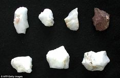 Rough axes and other tools thought to be between 130,000 and 700,000 years old were found close to shelters near the village of Plakias on the south coast of the Mediterranean island.