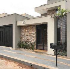 28 Trendy ideas for apartment facade design home House Front Design, Modern House Design, Home Building Design, Contemporary House Plans, House Entrance, Facade Design, Facade Architecture, Facade House, House Colors