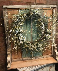 A personal favorite from my Etsy shop https://www.etsy.com/listing/541058077/repurposed-window-frame-with