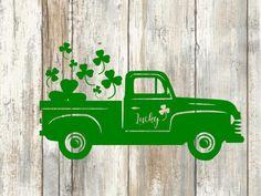 st patricks day svg,Truck car Svg, Shamrock SVG, Saint Patrick's DaySvg,Clover SVG, Cricut Files svg jpg png dxf Silhouette cameo by MdCreativeSpace on Etsy https://www.etsy.com/listing/579248014/st-patricks-day-svgtruck-car-svg