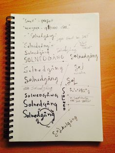 I must admit that for this project I did really little sketching by hand. After I came up with the logo and general vibe for the brand it all came together so I really didn't see the point of sketching. Here is anyway some of my key sketches when I was coming up with the logo of Solnedgång.