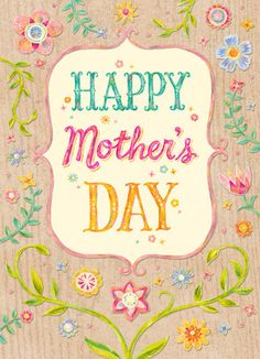 Floral Mothers Day Card