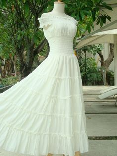 I Found It!!!!!!!! The perfect white cotton dress!!! So Beautiful